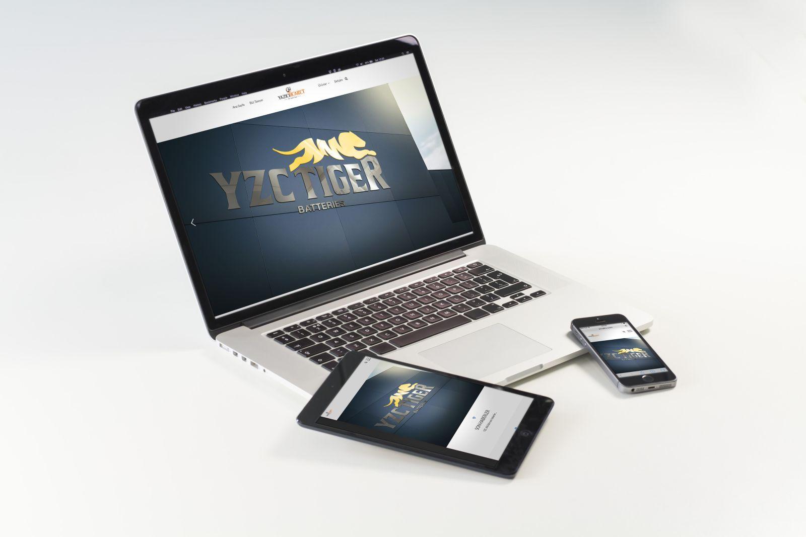 YZC Tiger Akü Web Sitesi Yayında