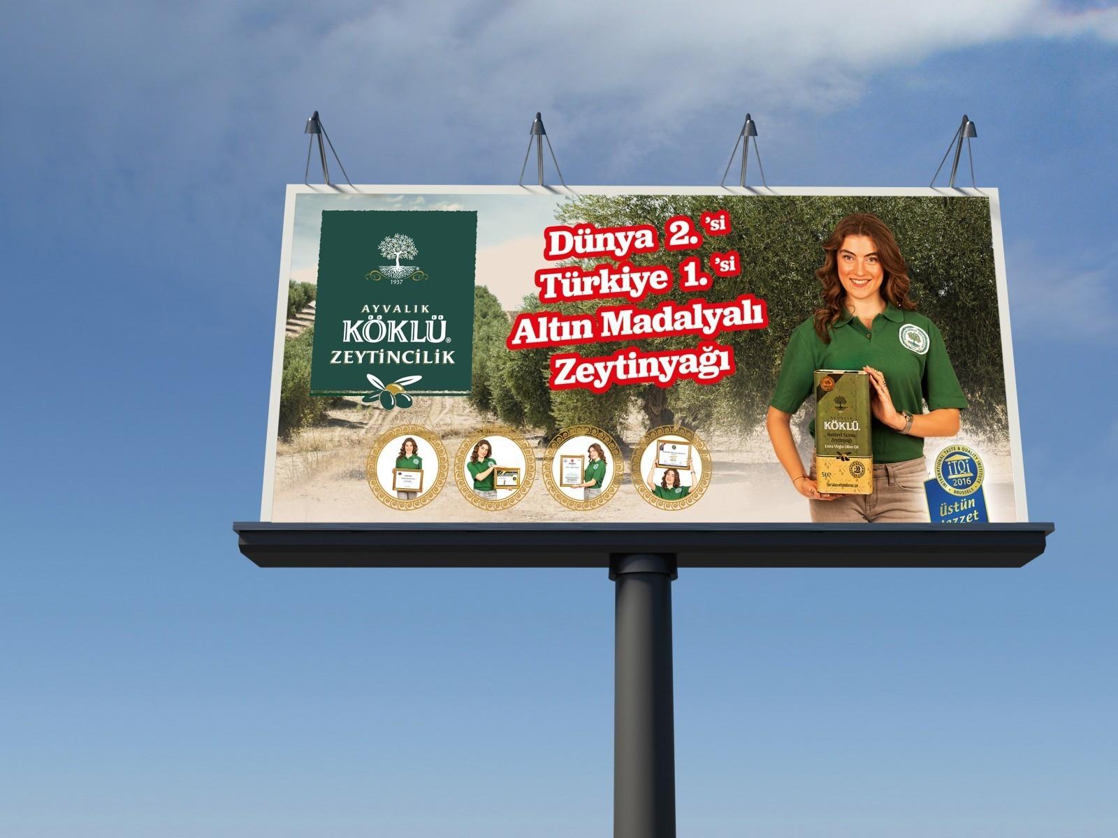 Köklü Zeytincilik'in Billboard Tasarımlarını Yaptık